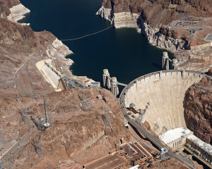 Aerial view of Hoover Dam, September 2017