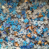 A jumble of jigsaw puzzle pieces