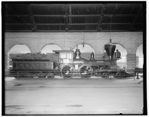 "The locomotive known as ""The General,"" in Union Station, Chattanooga, Tennessee"