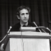 Photo of Daniel Ellsberg, speaking at a press conference in New York City in 1972