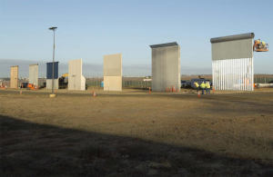 "Prototypes of President Trump's ""border wall."""