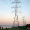 Electricity pylons, Hamilton Beach, Ontario, Canada